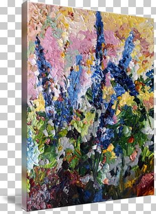 Floral Design Canvas Print Oil Painting PNG