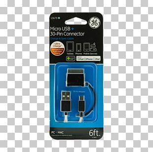 Micro-USB AC Adapter Electrical Connector Data Cable 3 FT PNG