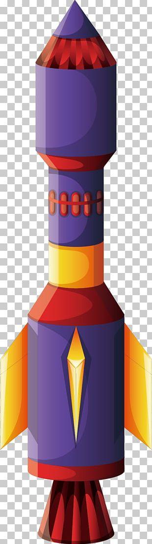 Rocket Spacecraft Illustration PNG