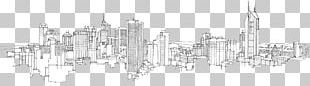 City Of Melbourne New York City Drawing Skyline Sketch PNG