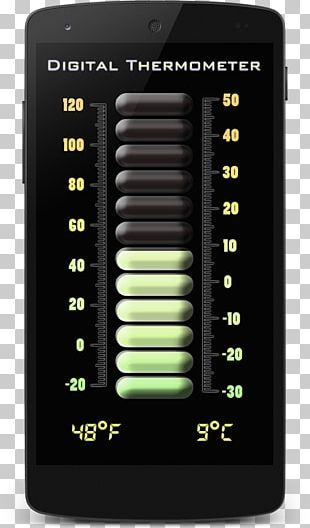 Mobile Phones Thermometer Temperature PNG