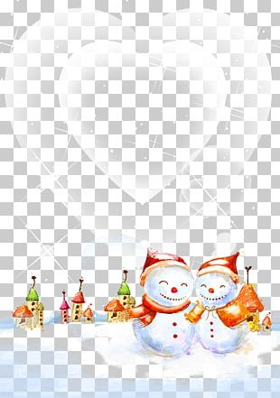 Snowman Christmas Winter PNG