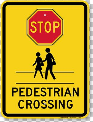 Pedestrian Crossing Safety Traffic Sign PNG
