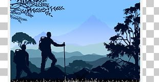 Mountaineering Backpacking Silhouette PNG