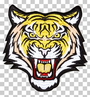 T-shirt Tiger Iron-on Embroidered Patch PNG