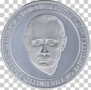 President Of The United States Coin Protests Against Donald Trump Medal PNG
