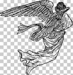 Drawing Angel Line Art PNG