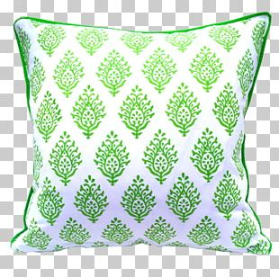 Throw Pillows Cushion Green Pacific Rose PNG