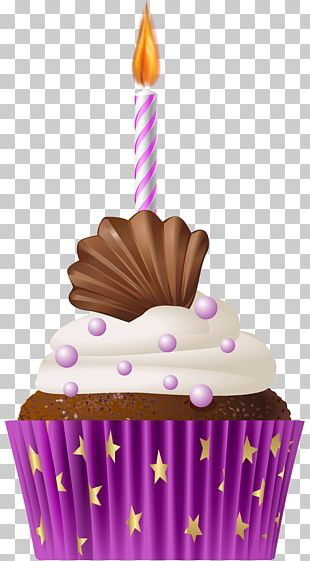 Muffin Cupcake Birthday Cake PNG