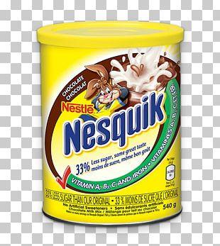 Chocolate Milk Nesquik Chocolate Syrup Food PNG