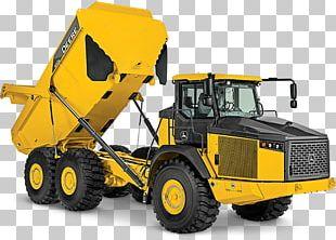 John Deere Caterpillar Inc. Articulated Hauler Dump Truck Heavy Machinery PNG