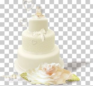 Wedding Cake Torte Buttercream PNG