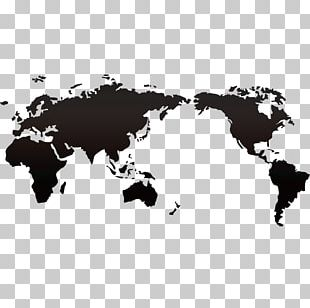 World Map Miller Cylindrical Projection Globe PNG