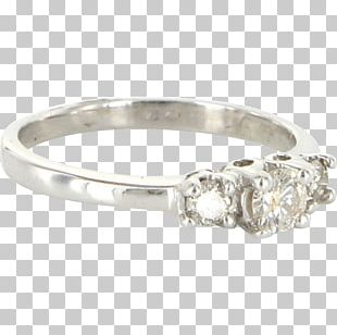 Wedding Ring Silver Gold Diamond PNG