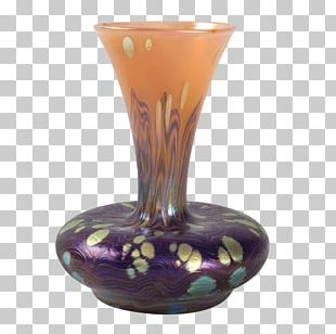 Johann Loetz Witwe Vase Glass Art Art Nouveau PNG