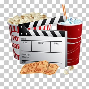 Popcorn Cinema Ticket Film PNG