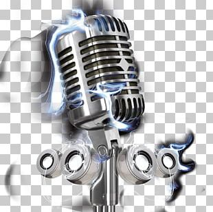 Microphone Music Poster PNG