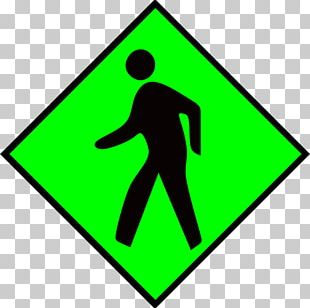 Pedestrian Crossing Traffic Sign PNG