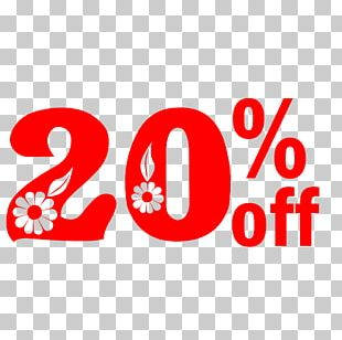 Spring Sale 20% Off Discount Tag. PNG