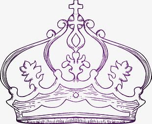 Hand Painted Crown Material PNG