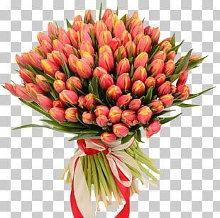 Flower Bouquet Tulip Garden Roses Gift PNG