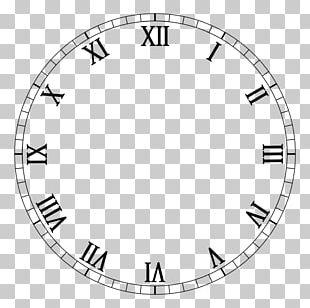 Clock Face Roman Numerals Numerical Digit PNG