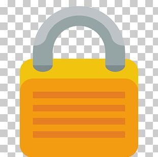 Lock Material Hardware Accessory Yellow PNG