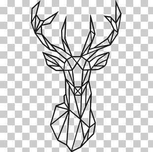 Deer Antler Geometry Wall Decal Geometric Mean PNG