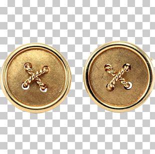 Cufflink Earring Jewellery Silver Gold PNG