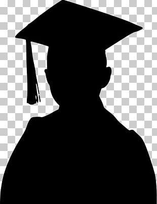 Graduation Ceremony Student Graduate University Silhouette PNG