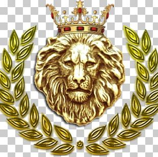 Laurel Wreath Crown Golden Lion Gym PNG