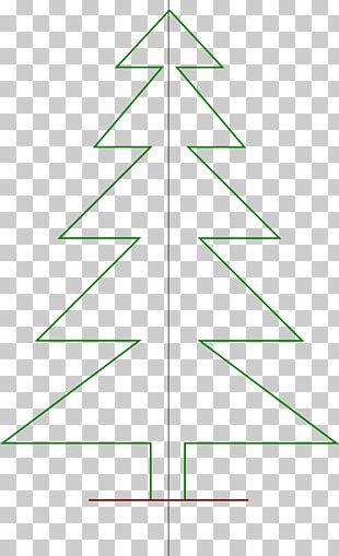 Christmas Tree Line Angle Point Pine PNG