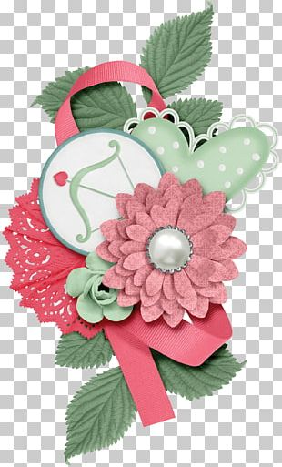 Floral Design Paper Digital Scrapbooking Embellishment PNG