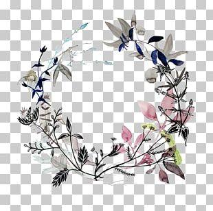 Wreath Watercolor Painting Art Flower PNG