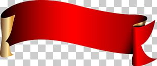 A Red Ribbon With A Curl PNG