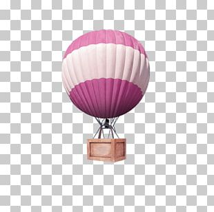 Hot Air Ballooning Purple PNG
