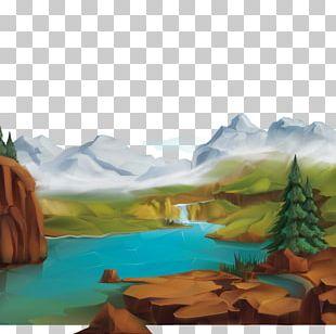 Natural Landscape Nature Illustration PNG