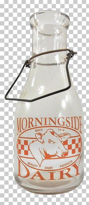 Glass Bottle Glass Milk Bottle Holstein Friesian Cattle PNG