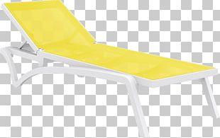 Deckchair Chaise Longue Sunlounger Textile Plastic PNG