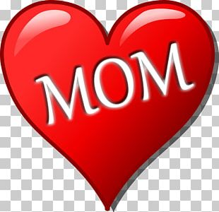 Mothers Day Heart Child PNG