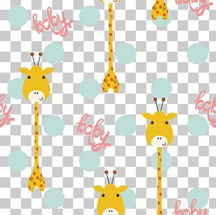 Giraffe Point Shading Illustration PNG