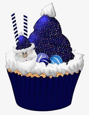 Blue Santa Claus Cake PNG