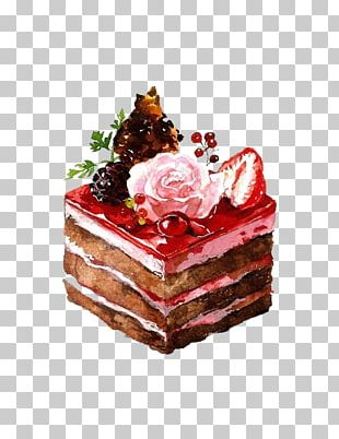 Dessert Watercolor Painting Drawing Illustration PNG