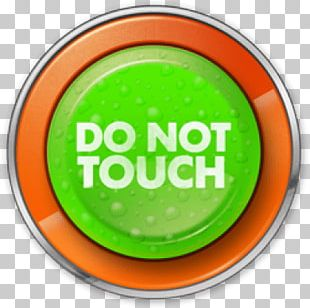 Do Not Touch Green:orange Button PNG