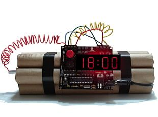 Time Bomb Timer Detonation Explosion PNG