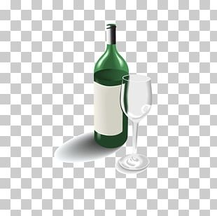 Wine Champagne Bottle Glass PNG