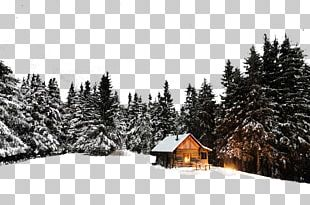 Log Cabin Winter Chalet Cottage Photography PNG
