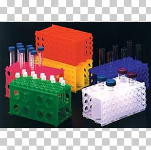Test Tube Rack Milliliter Laboratory Plastic PNG