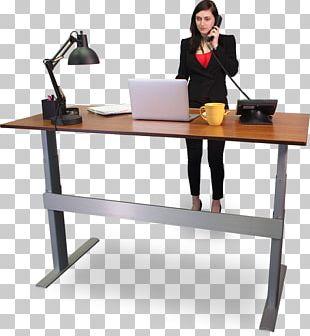Standing Desk Sit-stand Desk Computer Desk PNG