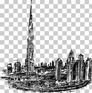 Dubai Skyline Drawing PNG